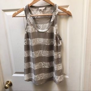 Banana Republic Silky tank top tan white